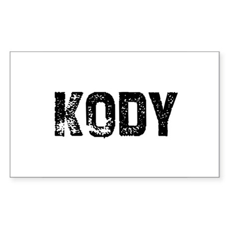 Kody Rectangle Sticker