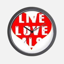 Live Love Salsa Designs Wall Clock