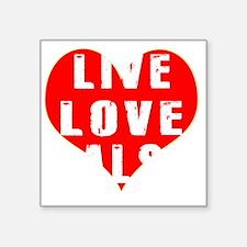 """Live Love Salsa Designs Square Sticker 3"""" x 3"""""""