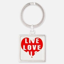 Live Love Salsa Designs Square Keychain