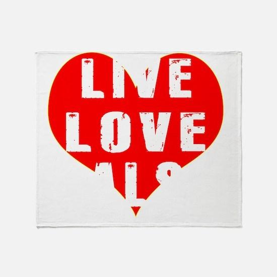 Live Love Salsa Designs Throw Blanket