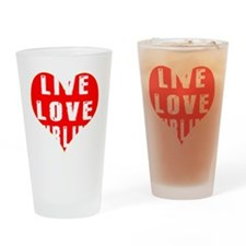 Live Love Curling Designs Drinking Glass