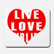 Live Love Curling Designs Mousepad