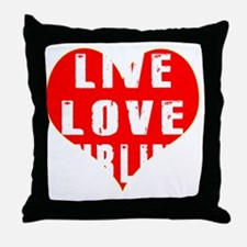 Live Love Curling Designs Throw Pillow