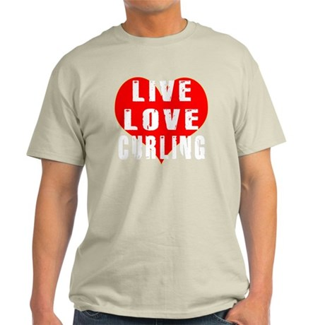Live Love Curling Designs Light T-Shirt