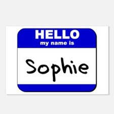 hello my name is sophie  Postcards (Package of 8)