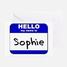 hello my name is sophie  Greeting Cards (Package o