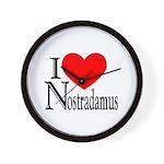 I Love Nostradamus Wall Clock