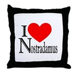 I Love Nostradamus Throw Pillow