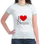 I Love Nostradamus Jr. Ringer T-Shirt