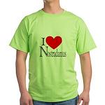 I Love Nostradamus Green T-Shirt
