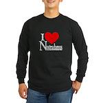 I Love Nostradamus Long Sleeve Dark T-Shirt
