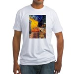 Cafe - Airedale (S) Fitted T-Shirt