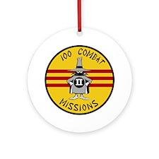 F-4 Phantom II - 100 Combat Mission Round Ornament