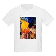 Cafe - Airedale (S) Kids Light T-Shirt