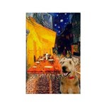 Cafe - Airedale (S) Rectangle Magnet (10 pack)