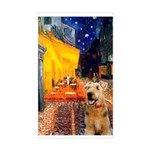 Cafe - Airedale (S) Sticker (Rectangle)
