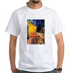 Cafe - Airedale (S) White T-Shirt