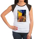 Cafe - Airedale (S) Women's Cap Sleeve T-Shirt