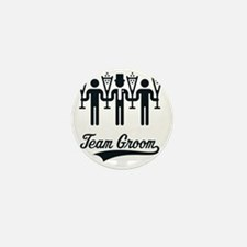 Team Groom (Bachelor Party / Stag Nigh Mini Button