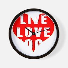 Live Love Yoga Designs Wall Clock