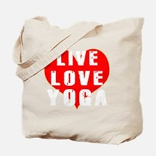 Live Love Yoga Designs Tote Bag