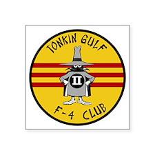 "Tonkin Gulf F-4 Club Square Sticker 3"" x 3"""