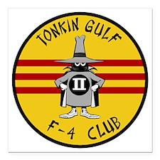 "Tonkin Gulf F-4 Club Square Car Magnet 3"" x 3"""