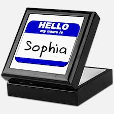 hello my name is sophia Keepsake Box