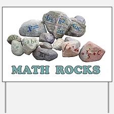 Math Rocks Yard Sign