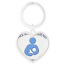 Latching on Heart Keychain