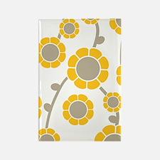 yellow flower iPhone 4 slider cas Rectangle Magnet