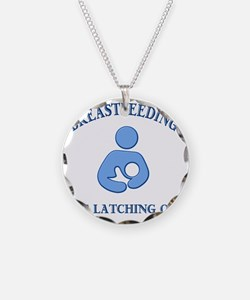 Latching on Necklace Circle Charm