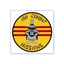 "F-4 Phantom II - 100 Combat Square Sticker 3"" x 3"""