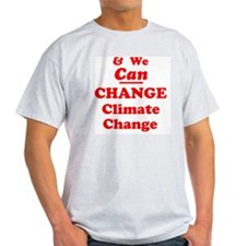 red and we can change climate change T-Shirt