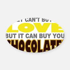 Buy Love Chocolate Oval Car Magnet