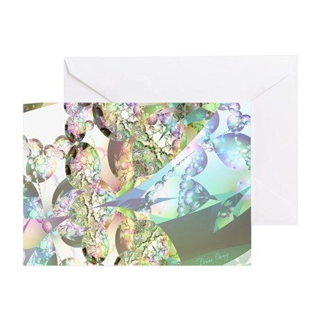 Wings of Angels Amethyst Crystals Greeting Card