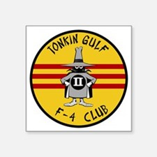 "Tonkin Gulf F-4 Club Square Sticker 3"" x 3"""