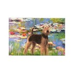 Lilies#2 - Airedale #6 Rectangle Magnet (10 pack)