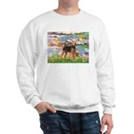 Lilies#2 - Airedale #6 Sweatshirt