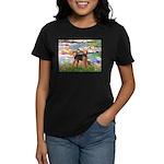 Lilies#2 - Airedale #6 Women's Dark T-Shirt