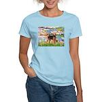 Lilies#2 - Airedale #6 Women's Light T-Shirt