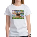 Lilies#2 - Airedale #6 Women's T-Shirt