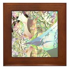 Wings of Angels Amethyst Crystals Framed Tile