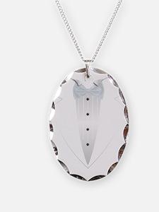 Tuxedo (white) Necklace