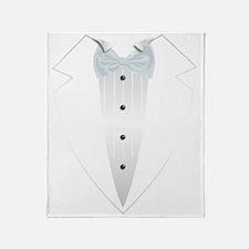 Tuxedo (white) Throw Blanket