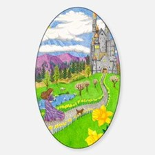Daffodil Lane Sticker (Oval)