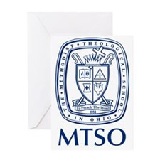 MTSO navy crest Greeting Card
