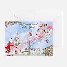 1 A Gerda Wegener Art Deco Calendar Greeting Card