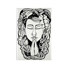 Mother Earth in Namaste Position  Rectangle Magnet